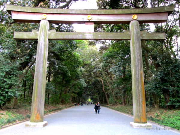 The entrance to Yoyogi park.