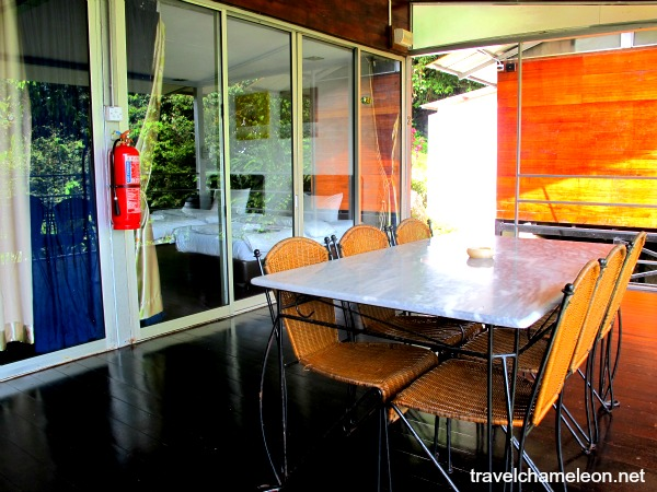 Residence had a sharing dining table which sits at the balcony area overlooking the hills.
