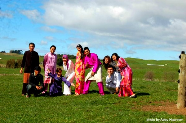 """""""I would like to wish all my family, my in-laws family and our friends in Malaysia, Selamat Hari Raya and Maaf Zahir Batin"""" – Siti Norbaya (photo taken in a dairy farm, Napier, New Zealand)"""