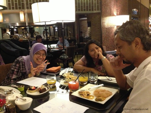 A brainstorming session with Malaysian Travel Bloggers Admin and Founder.