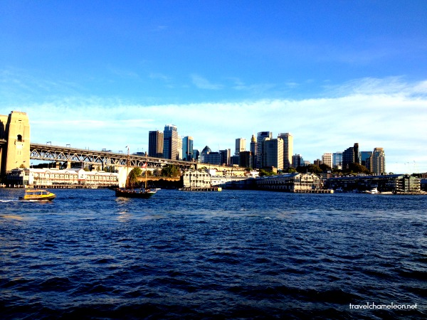 The view of the city as we made our way to the Darling Harbour Wharf.