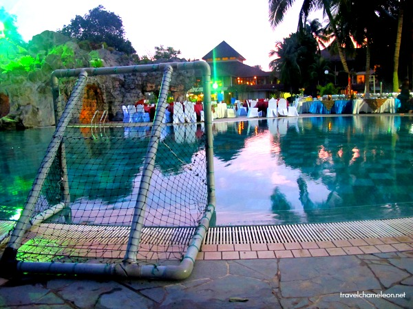 Water polo activities with a proper goal area for the competitive souls.