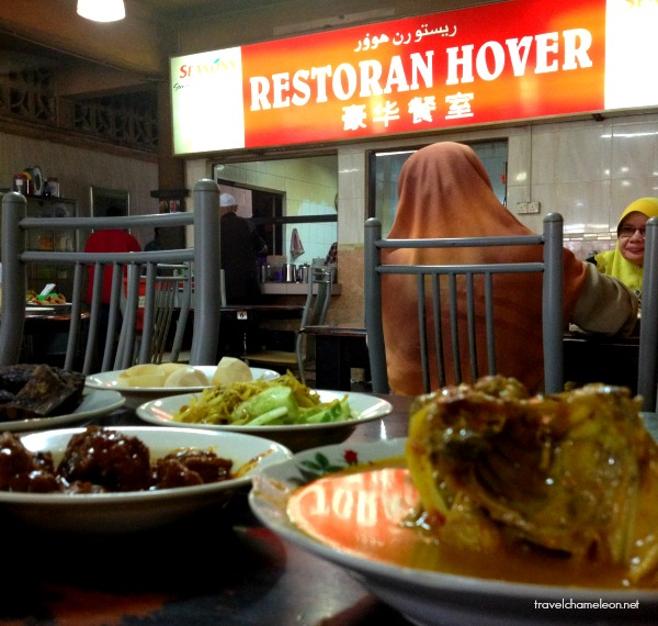 If you're feeling really hungry, head to Restoran Hover for some Nasi Padang.