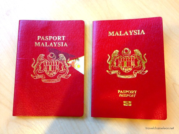 The old passport (left) with the newer bio-metric version.