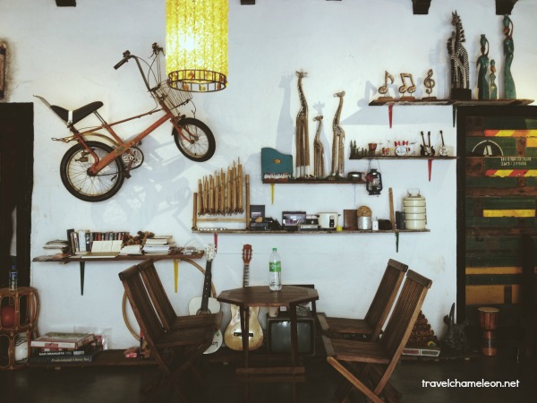 Layang Layangs' wall of vintage fame is so cool.