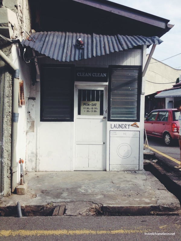 The cute boutique laundry shop on Jonker Street.