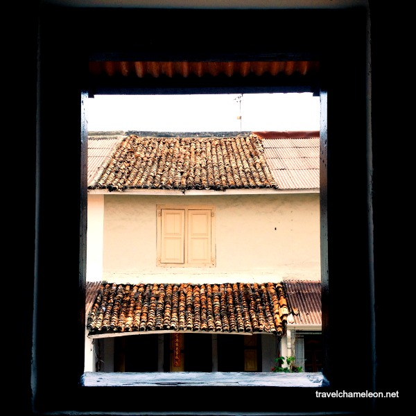 Seeing Jonker Street from the window of Layang Layang