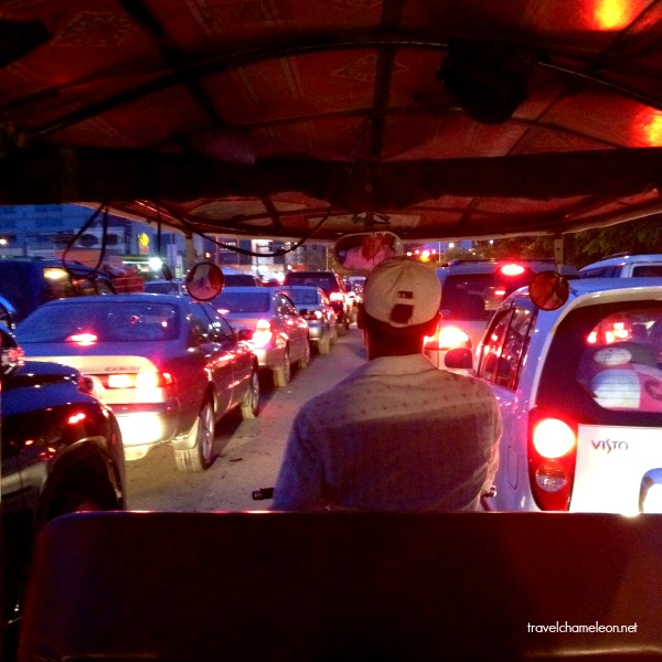 Traffic jam from the tuk tuk ride.