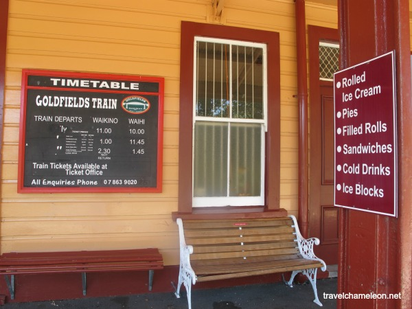 Check the timetable for the train ride.