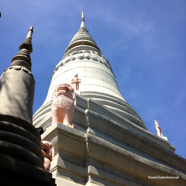 The main stupa of Wat Phnom.