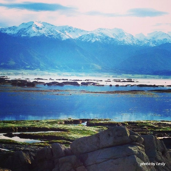 The mountain is at Kaikoura (South Island), one of the most beautiful place in New Zealand.