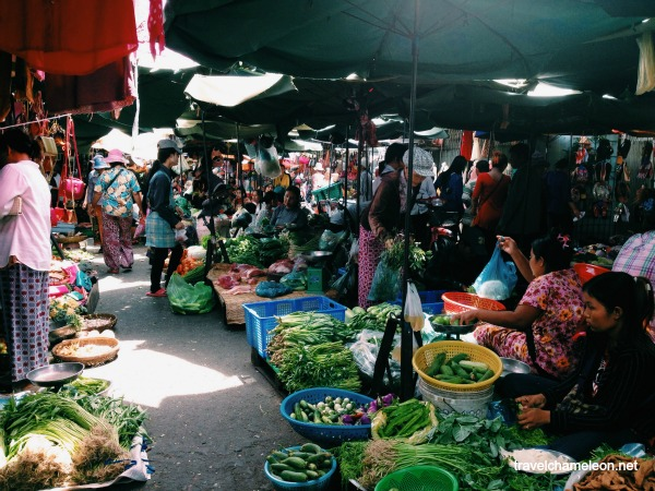 Fresh vegetables and fruits await you at the Kandal Market.