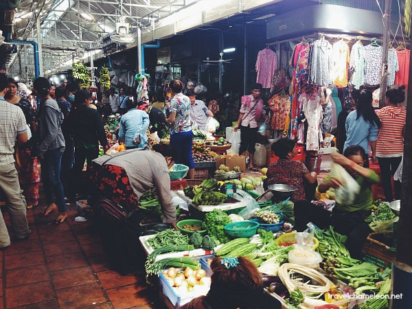 Vintage clothes and vegetables are a common thing at the BKK Market.