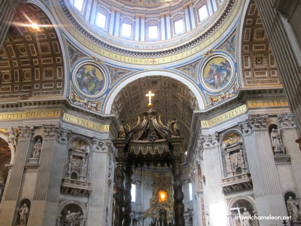 Baldacchino and the dome, St. Peter's basilica