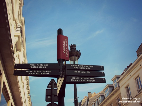 Follow the signs and you won't need a map in Brussels.