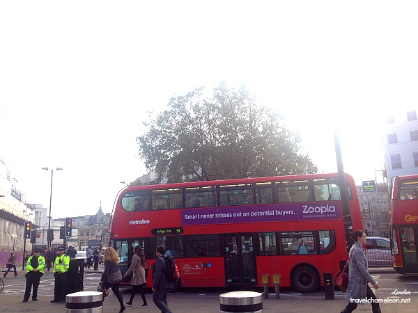 Look out for the iconic double decker bus whenever you're in London.