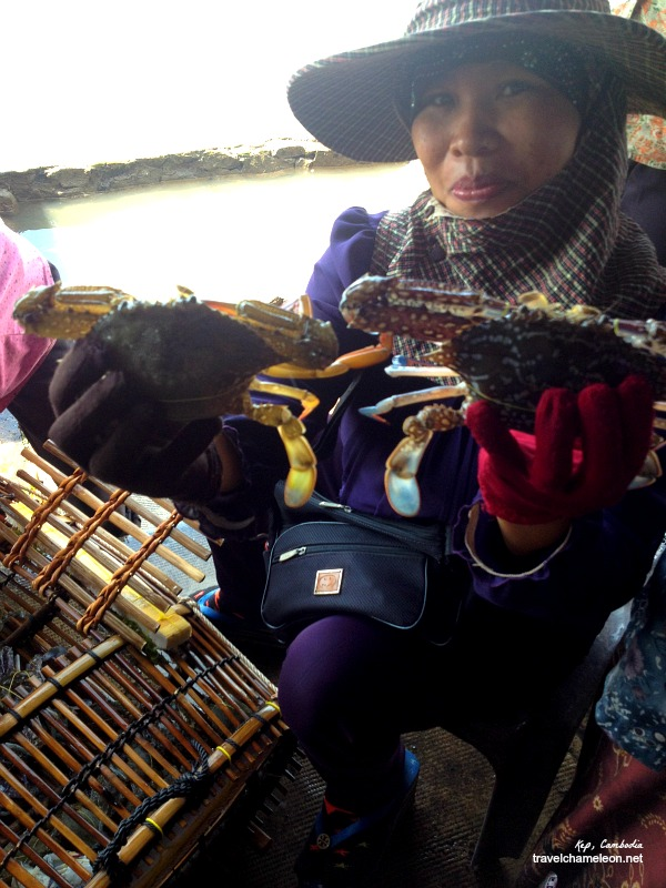 We got our crabs from this friendly Muslim crab lady.