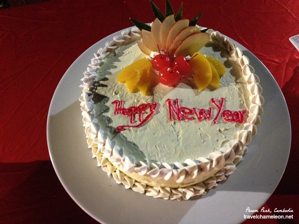 A Happy New Year cake for New Years' Eve.