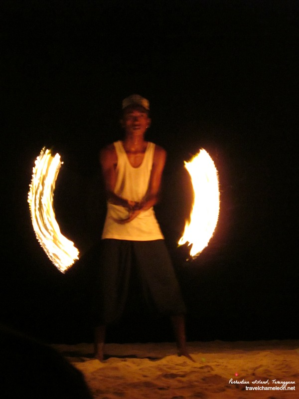 Watch a fiery performance from the local island man.