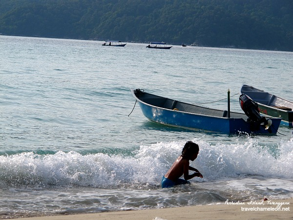 A normal scene on the shores of Pulau Perhentian.