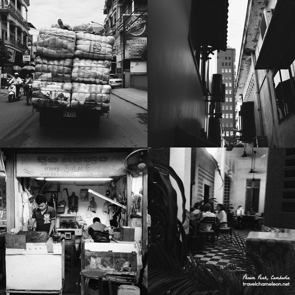Photos of Phnom Penh for the Black & White Photography Challenge on Instagram.