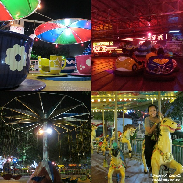 Having fun in Dreamland, a local amusement park in Phnom Penh city.