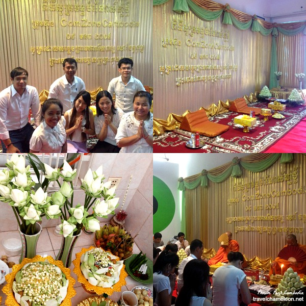 New Year blessing ceremony in the office.