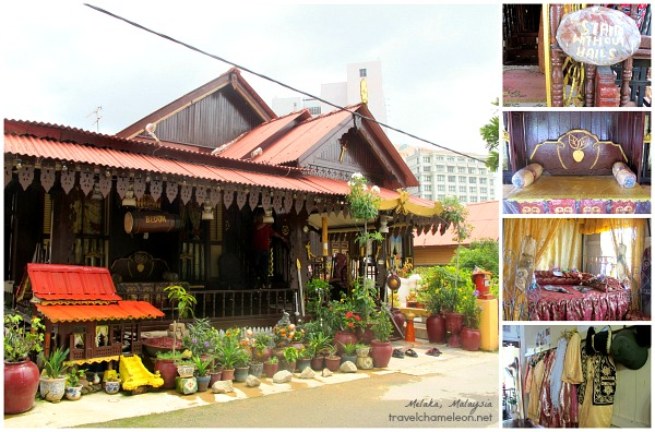 The charming traditional Malay home which the owner welcomed us in for a visit.