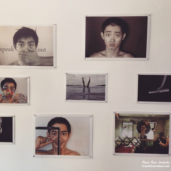 Ti Tit, a Cambodian blogger had his first photography exhibition at X-Em Gallery.