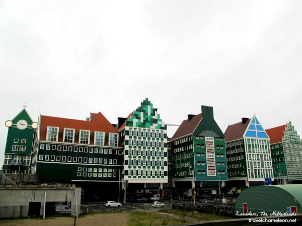 Unique house designs seen from the Zaandam train station.