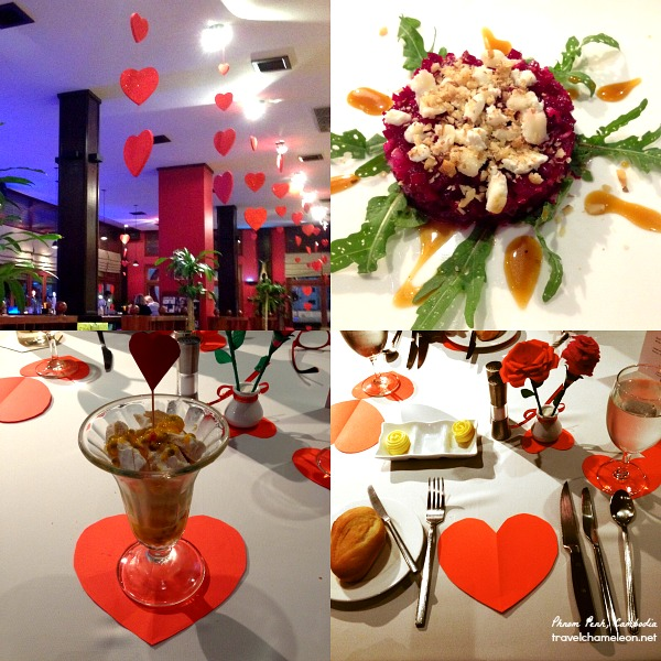 A+ for table setting on Valentine's Day Dinner Course at K-West.