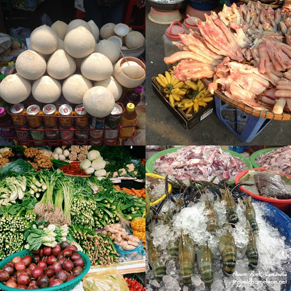 Colorful items can be seen at the markets, fresh ones too.