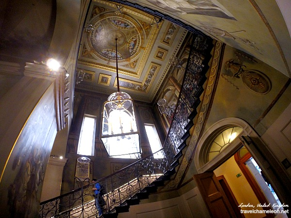 The grand King's Staircase leading up to the King's State Apartments.