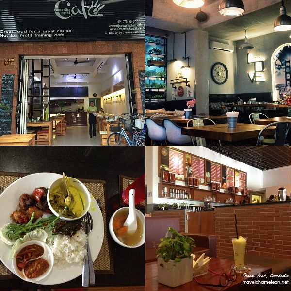 Top left clockwise: Connecting Hands Cafe, Digby's, Edwood Cafe and Gulai restaurant.
