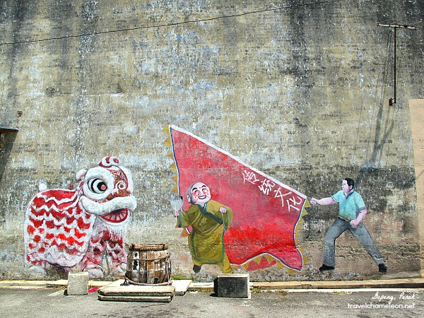 A Chinese New Year celebration mural.