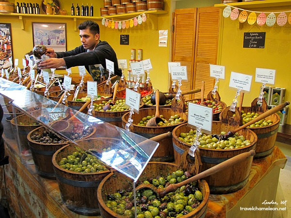 Scoop some olives from this stall.