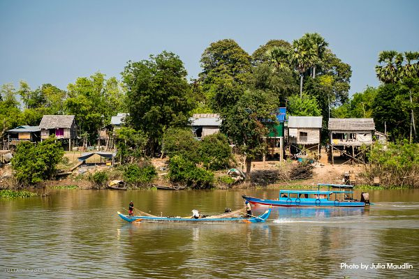 Floating villages in Kampong Chhnang.