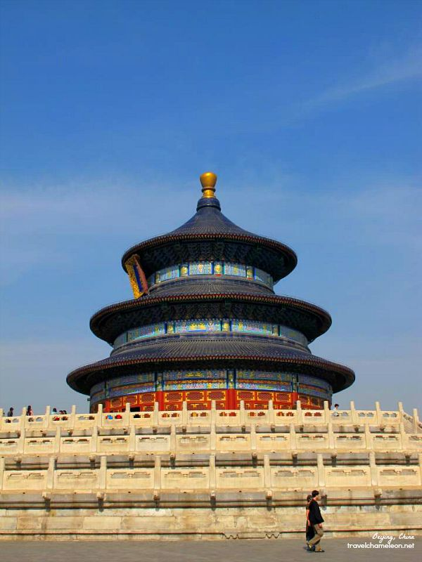 The Temple of Heaven in Tiantan Park.