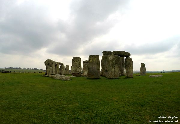 The Stonehenge is made of larger and smaller stones.