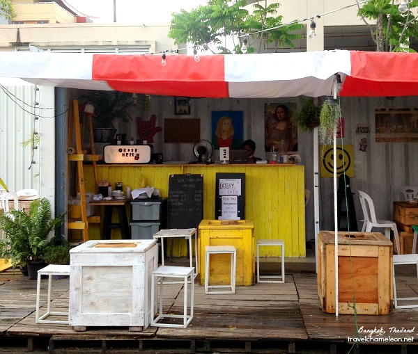 Look for these mini cafes at the end of Artbox.