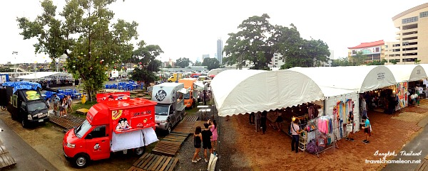 From main stage, to food trucks to containers with arts inspired items for sale.