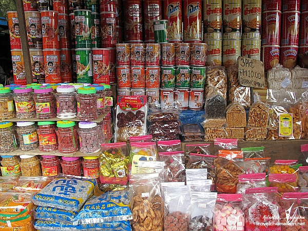 Plenty of local and traditional snacks can be found at Rantau Panjang.