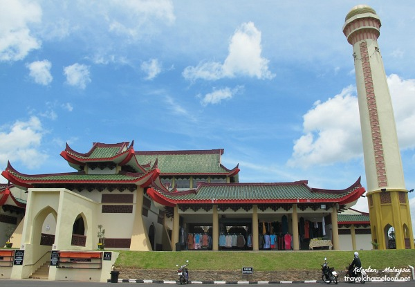 The Beijing mosque with oriental structure and design, located in Kelantan.