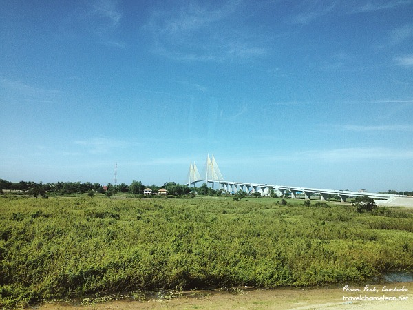 We're not in Kansas anymore Dorothy. - The modern bridge in Prey Veng is such a contrast to the lush green of this Province.