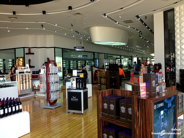 Duty free shop at the border between Cambodia and Vietnam.
