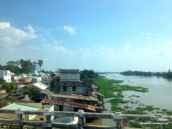 Passing by another bridge in a Vietnam province as we headed towards the city.