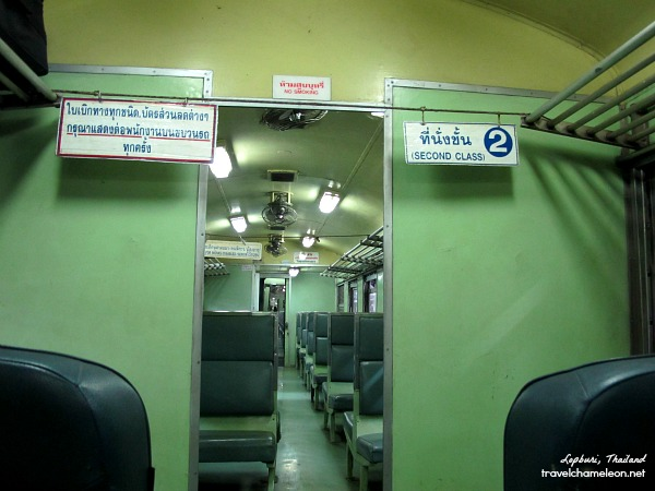 The difference between a second class and third class berth. In third class, there's no reserved seating area.