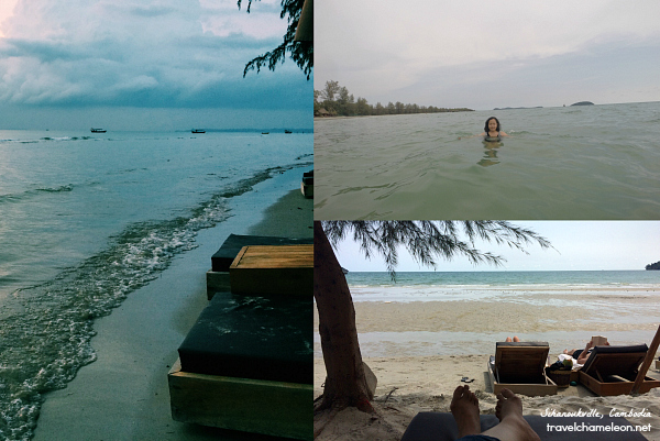 The private beach in Ren Resort.