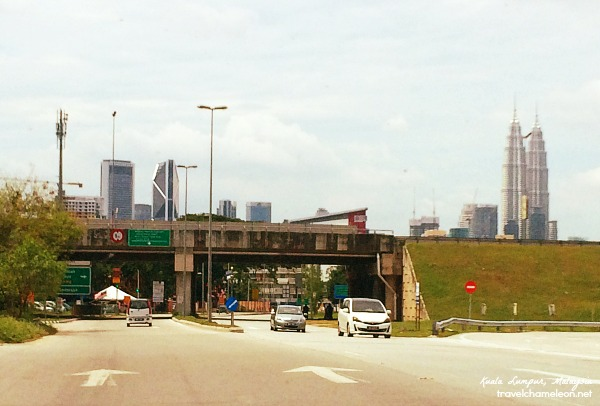 View of the Kuala Lumpur Twin Towers while we were on the way to the airport.