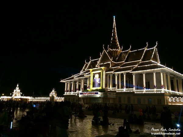 Bright lights at the Royal Palace